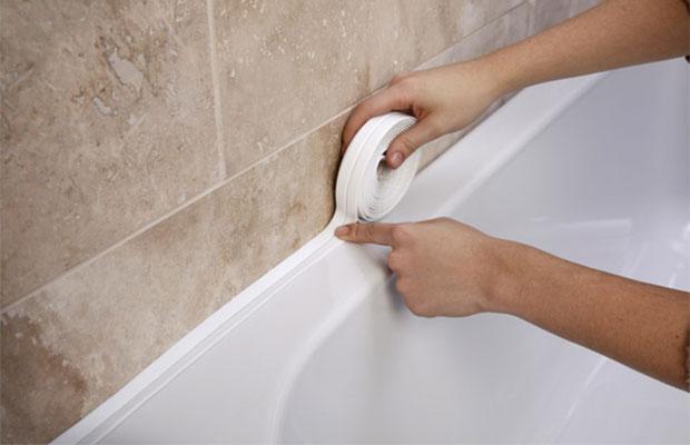 Самоклеящийся элемент стыков ванны и стены