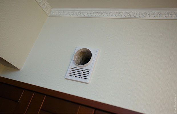 Свободная циркуляциявоздуха между вентиляционной системой и окнам - основа нормальной работы вентиляции