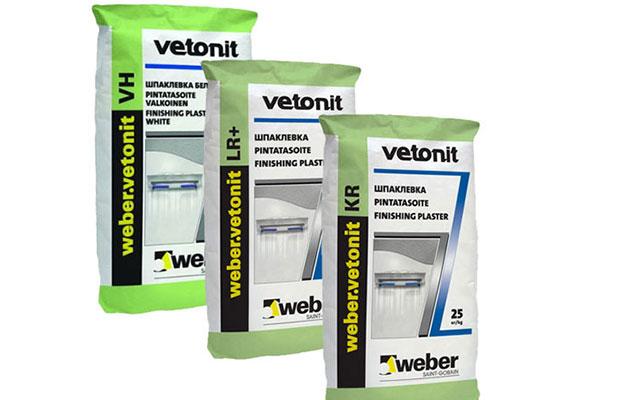 Шпаклевка для финишной подготовки стен Weber Vetonit