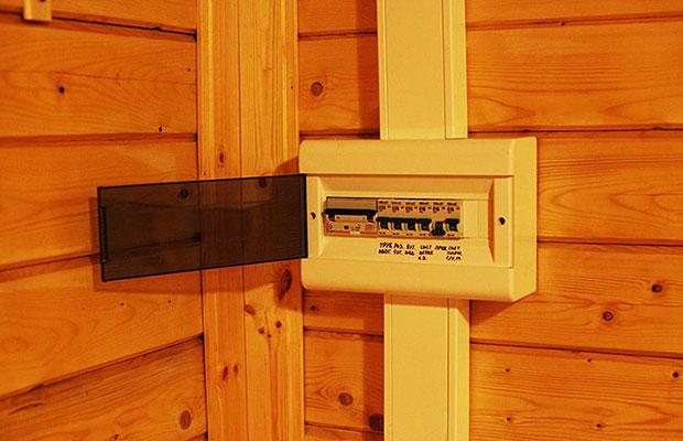 Электрораспределительное оборудование лучше всего разместить в предбаннике