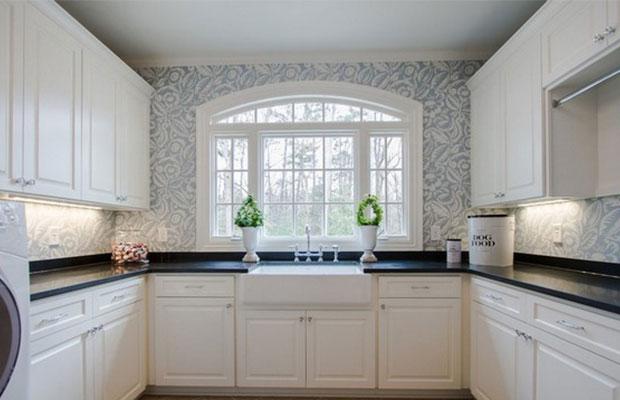 П-образный кухонный гарнитур самый вместительный