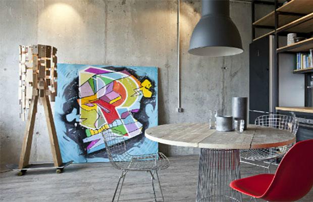 Популярность бетона во многом обусловлена распространением стилей лофт, минимализм, индустриализм и других