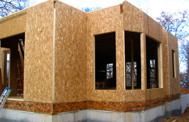 ОСВ используется для отделки стен внутри дома