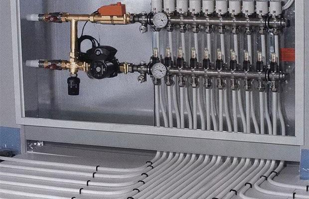 Коллекторные схемы отопления с принудительной циркуляцией