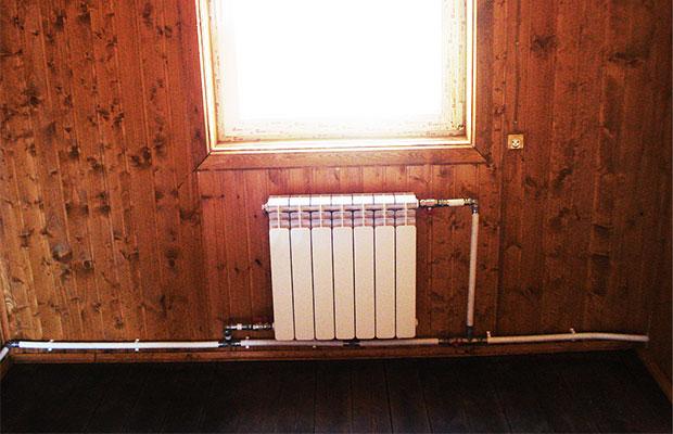 Однотрубная система отопления с нижней разводкой устроена по принудительному принципу