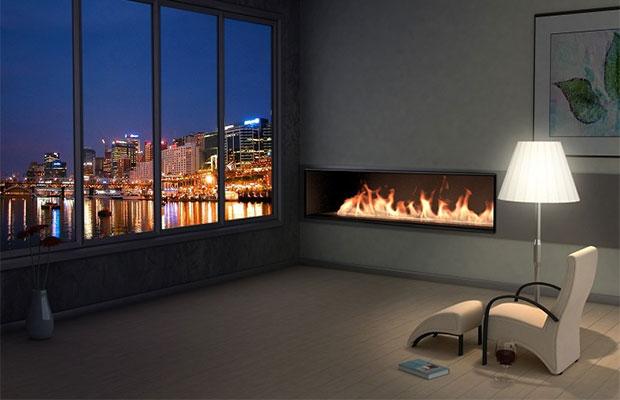 Встроенный камин – оригинальное дополнение для любой комнаты