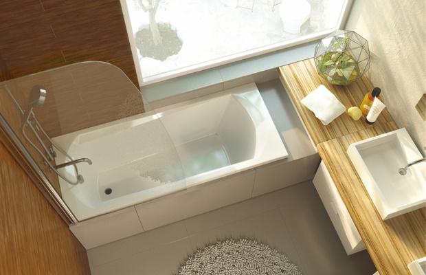 Стильная и удобная акриловая ванна