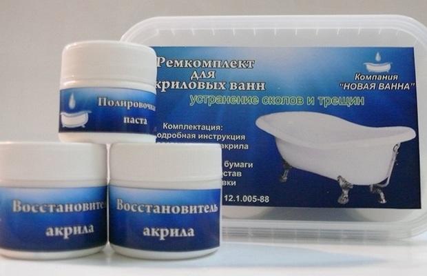 Специальные составы для восстановления поверхности ванны