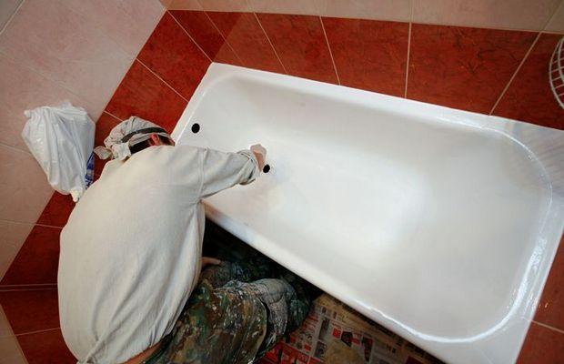 Реставрация ванны с помощью специальных составов