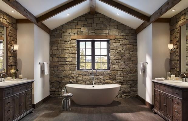 Отделка ванной комнаты камнем - один из самых дорогих варианттов