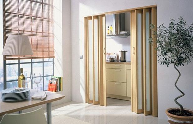 Гармошки являются популярным видом дверей