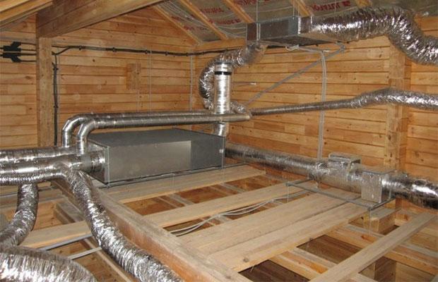 Один из основных элементов принудительной вентиляции-вентиляционная сеть