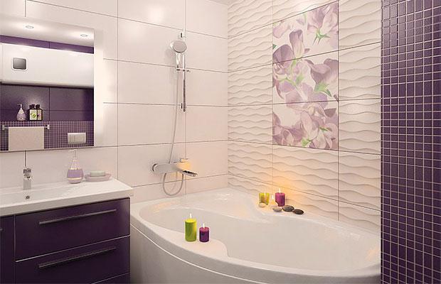 Отделка стен в ванной должна быть устойчива к воде и моющим средствам