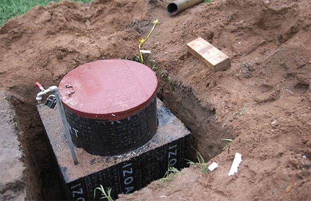 Точка выхода из скважины должна располагаться в герметичном кессоне