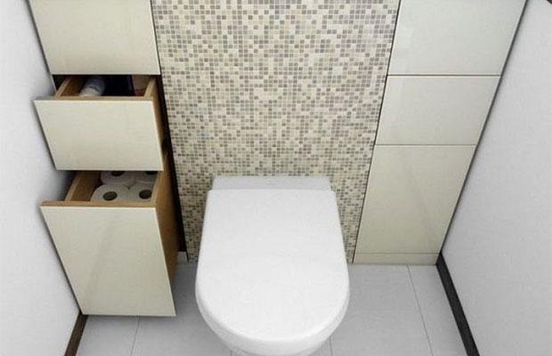 Для маленьких санузлов выпускается компактная мебель и сантехника