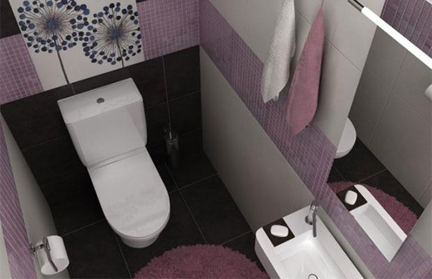 Вмаленьком туалете можно установить компактную сантехнику, которая не будет занимать много места