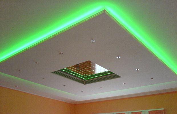С помощью светодиодной подсветки можносделать помещение более современным и привлекательным