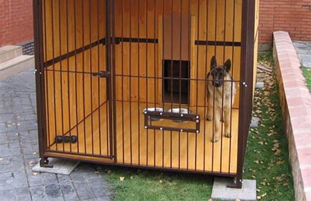 Миски для собаки в вольере лучше закрепить