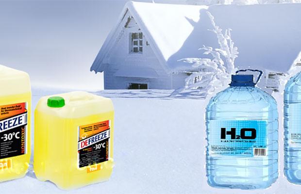 Перед тем, как использовать теплоноситель, его нужно разбавить водой