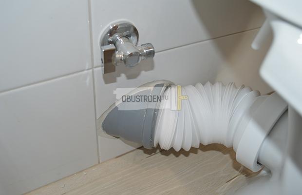 Подключение гофры к канализации