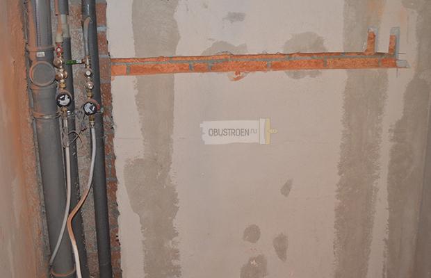 Штробирование стены