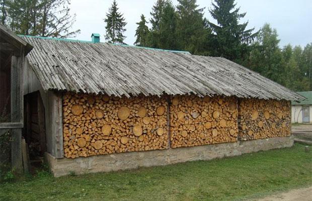 Площадь постройки зависит от того, сколько дров потребляется