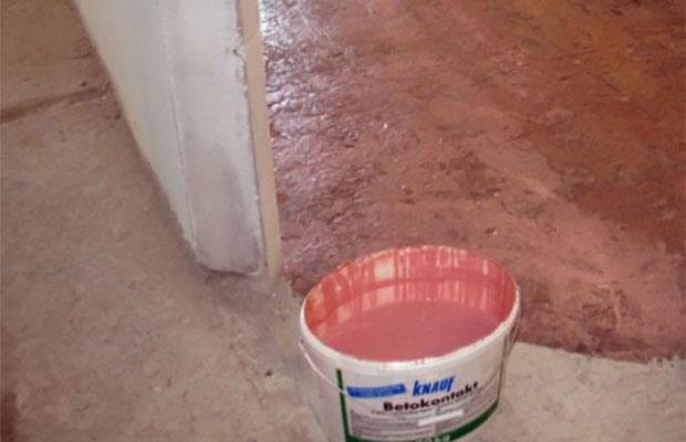 Бетоноконтакт Кнауф предназначен главным образом для поверхностей из бетонного монолита