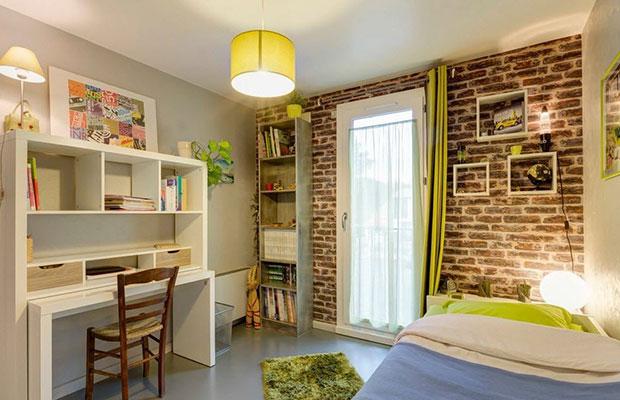 Отделку из кирпича можно применять для дизайна любой комнаты
