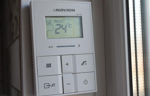 Настроив газовый котел, можно установить подходящую температуру в помещении