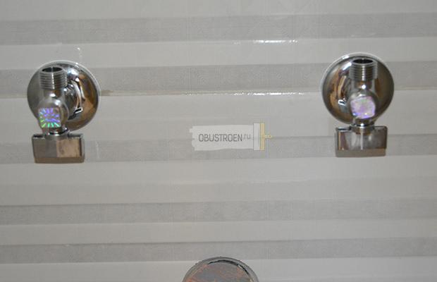 Установка кранов для смесителя