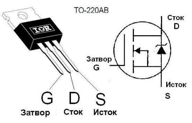 Схема распиновки транзисторов