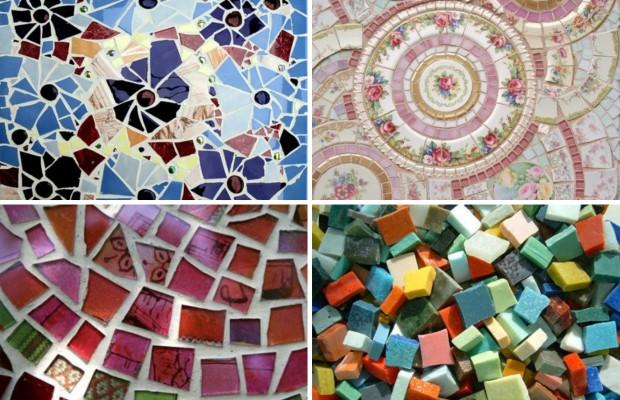 Виды мозаики различается в зависимости от материала из которого она изготовлена