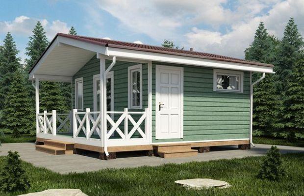 Финские домики чаще всего одноэтажные, имеют двускатную крышу