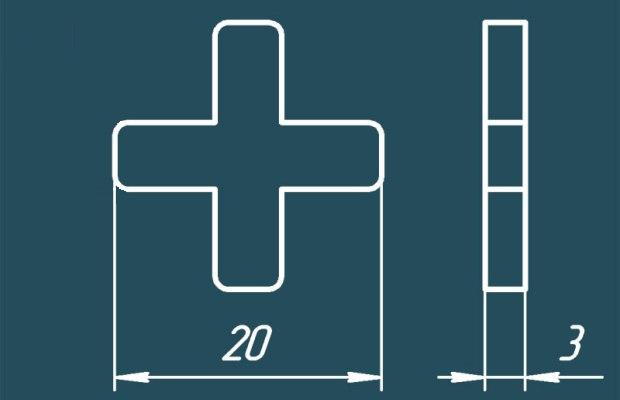 Оптимальным размером крестиков для напольных покрытий считается толщина 3 мм