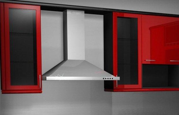 Объединение комнаты с кухней предусматривает установку вытяжки предельной мощности