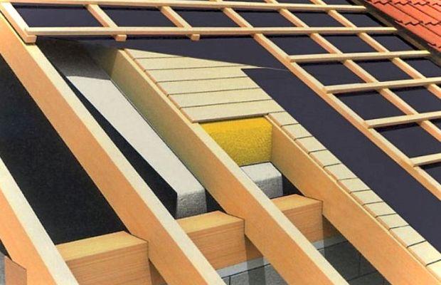 Чаще всего пергамин применяется для защиты крыши зданий и домов от конденсата