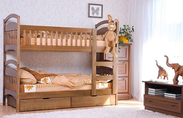 Идеальный материал для детской кровати - массив дерева