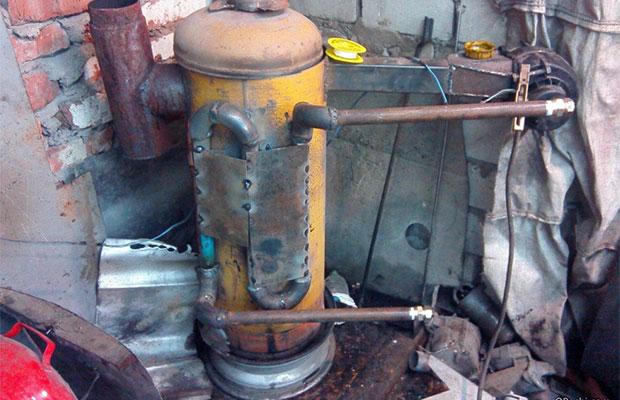 Печка на отработке из газового баллона проста и недорога в эксплуатации