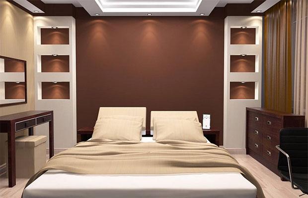 Для спальни лучше выбрать тихие спокойные цвета