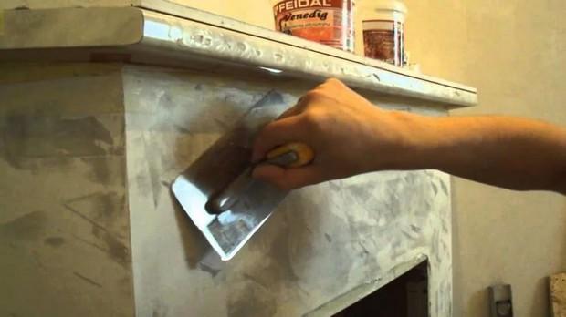 Оштукатуривание камина своими руками