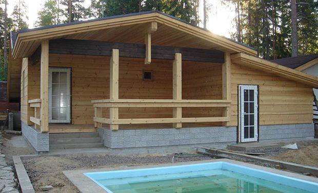 Каркасный деревянный домик