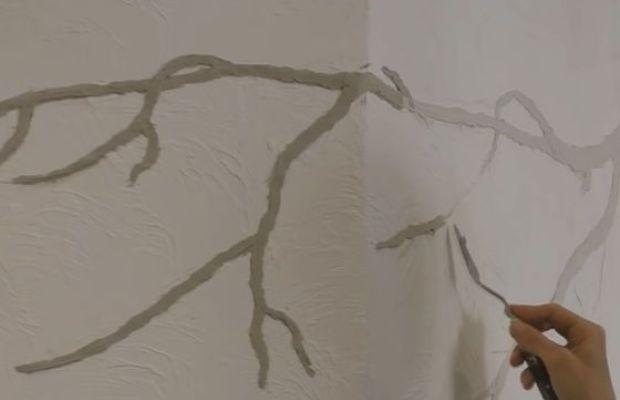 Создание стебля при помощи шпателя