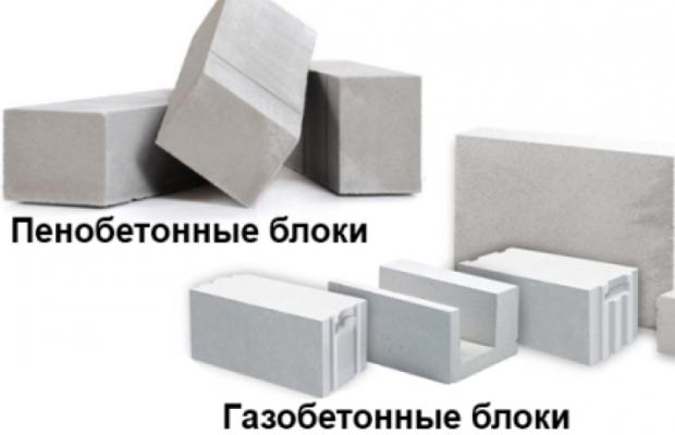 Пеноблок и газоблок имеют одинаковый состав: песок, вода и цемент