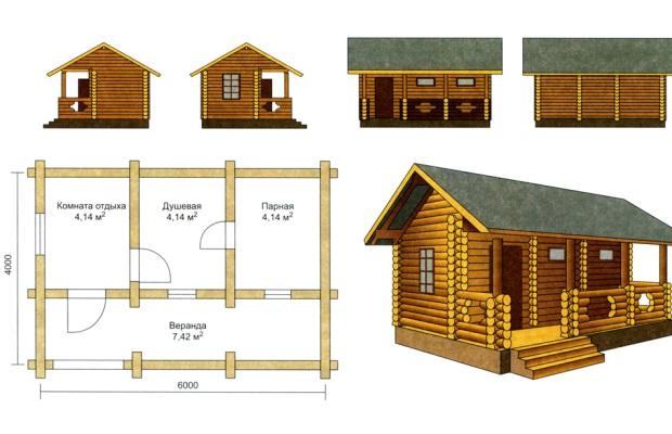 После того, как с местом строительства определились, нужно разработать проект бани