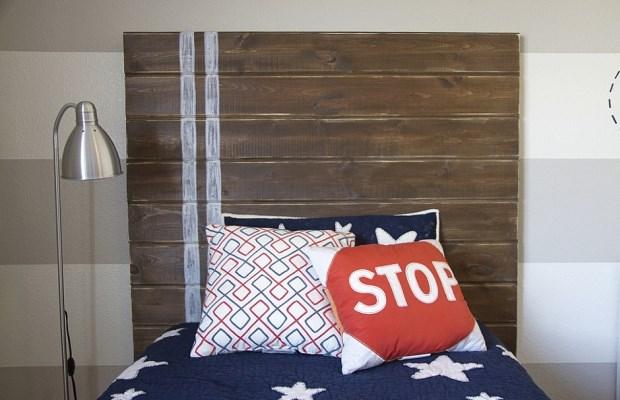 Для изголовья кровати подойдет практически любой из древесных материалов