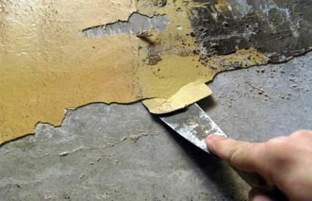 Если было обнаружено старое покрытие, необходимо очистить его до самого основания