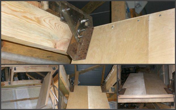 Собираем механизм открытия люка лестницы