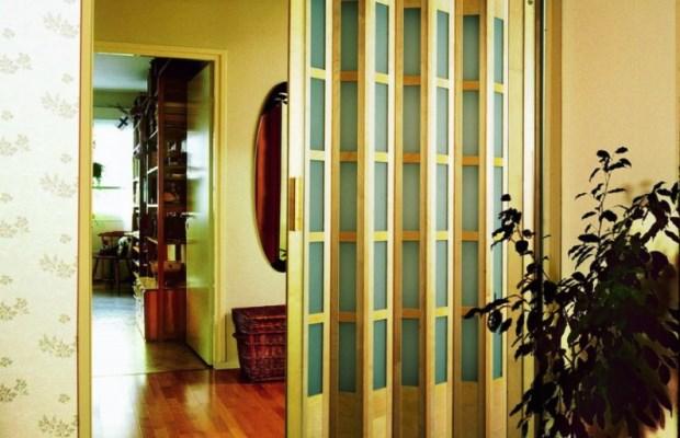 Ламели складных дверей могут быть различной ширины, что прямо отражается на стиле и дизайне дверей
