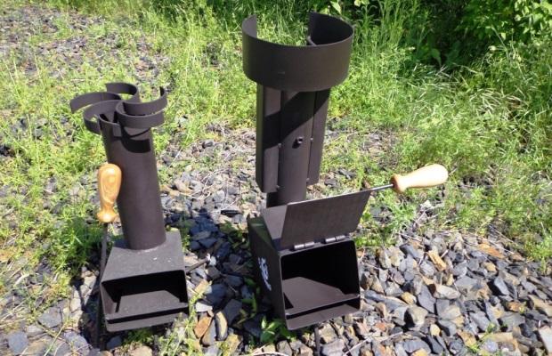 По требованиям самодельная ракетная печь не сильно будет отличаться от готового изделия - только сухие дрова!