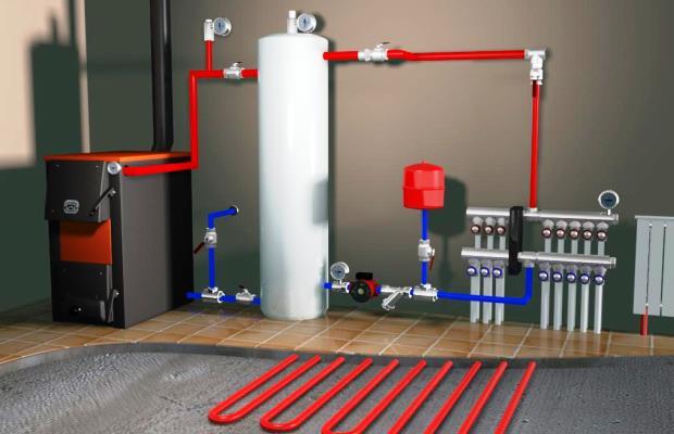 Принцип работы системы отопления с принудительной циркуляцией